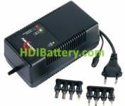 Cargador de Pack de baterías Ni-Cd y NI-MH 4,8V a 12V (4 a 10 elementos)